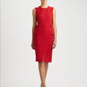 Rachel Roy Tropical Wool Peplum Red Dress, 4